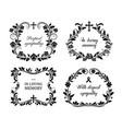 funeral frames vintage obituary wreath set vector image vector image