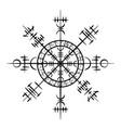 grunge scandinavian viking tattoo object vector image vector image
