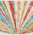 grunge vintage background with sunburst and vector image vector image