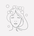 hair washing icon line element vector image