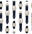 hand wrist watch icon wristwatch vector image vector image