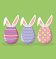 happy easter eggs decoration vector image vector image