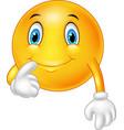 happy emoticon fantasized on white background vector image vector image