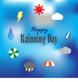 Happy rainning day vector image