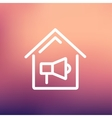 House fire alarm thin line icon vector image