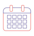 isolated calendar design vector image