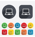 Laptop sign icon Notebook pc symbol vector image vector image