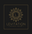 letter l logo with classic and luxurious line art