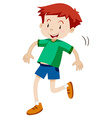 Little boy hopping alone vector image vector image