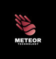 logo meteor gradient colorful style vector image