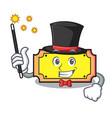 magician ticket mascot cartoon style vector image