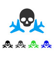mortal airplanes flat icon vector image vector image