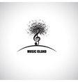 Music Island vector image vector image