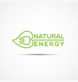 natural energy logo vector image vector image