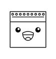 notebook sheet kawaii character vector image vector image