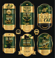 olive oil retro vintage background collection 3 vector image vector image