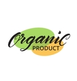 Organic shop label logo template for healthy food vector image