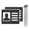 patient accounts icon with professional bonus vector image vector image