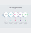 project milestone timeline infographic template vector image vector image
