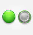 realistic green blank badge vector image vector image