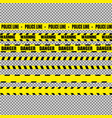 realistic warning tapes vector image