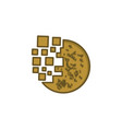 round cookie digital logo designs inspiration vector image vector image
