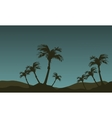 Scenery of palm tree silhouette vector image vector image