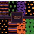 seamless pattern halloween vector image