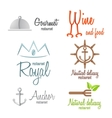 Set of logo and logotype elements for restaurant vector image vector image