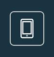 smartphone outline symbol premium quality vector image vector image