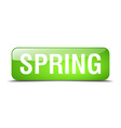 spring green square 3d realistic isolated web vector image vector image