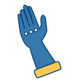 toilet glove isolated vector image vector image