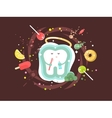 tooth abstract design flat vector image vector image