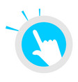 touch sign vector image vector image