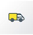 van colorful outline symbol premium quality vector image vector image