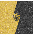 versus glitter letters black and gold vs text vector image vector image