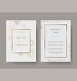vintage luxury wedding invitation card vector image vector image