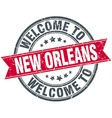 welcome to New Orleans red round vintage stamp vector image vector image