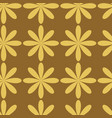 yello flowers on beige background seameless repeat vector image