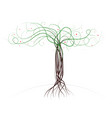 curly painted wood with a trunk and branches vector image