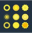 flat set of suns vector image