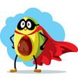 superhero avocado super food cartoon