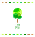 Tree flat colors logo template vector image