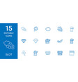 15 slot icons vector image vector image