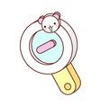 A magnifying glass vector image vector image