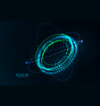 abstract futuristic object hud elemet vector image vector image