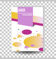 abstract geometric design banner web template vector image vector image