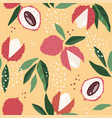 abstract seamless patterns with exotic fruits vector image
