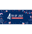 american independence day celebration web banner vector image vector image