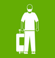 arabic man icon green vector image vector image